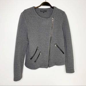 GENERATION LOVE NY Grey Asymmetrical Zip Jacket M